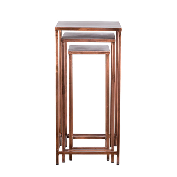 Pollock Tall Nesting Tables - Copper (Set of 3)