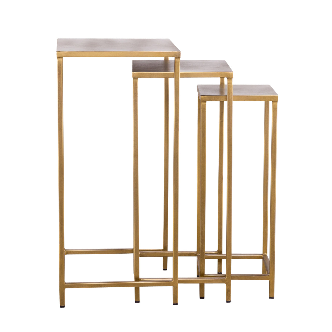 Pollock Tall Nesting Tables - Brass (Set of 3)