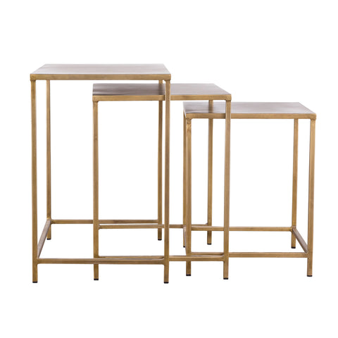 Pollock Nesting Tables - Brass (Set of 3)