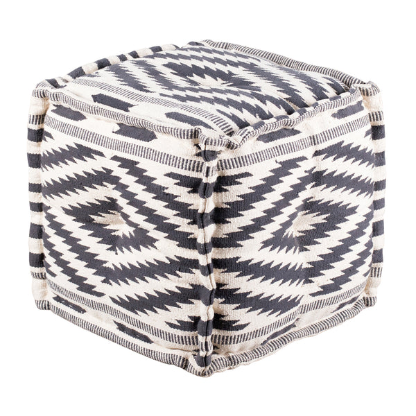 Blue Diamond Pouf - Square