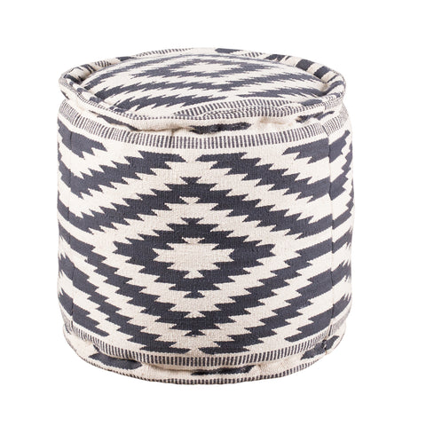 Blue Diamond Pouf - Round