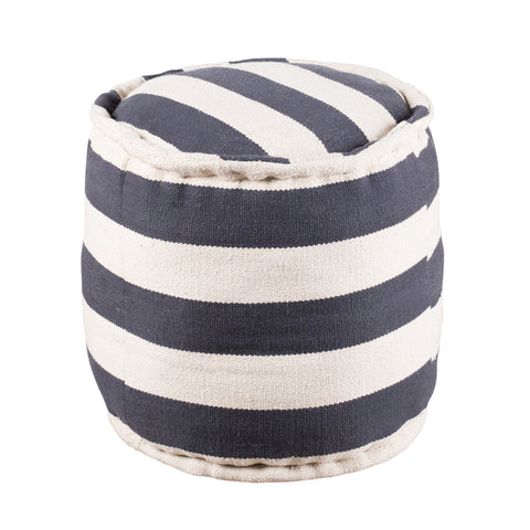 Wide Stripe Pouf - Round