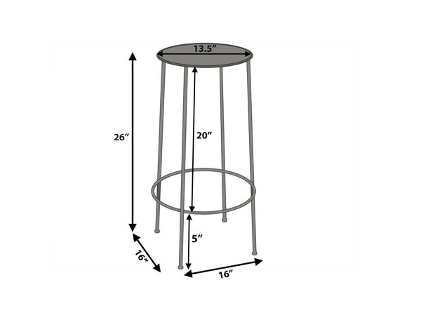 Parker Counter Stool - Zinc ( Set of 2 )