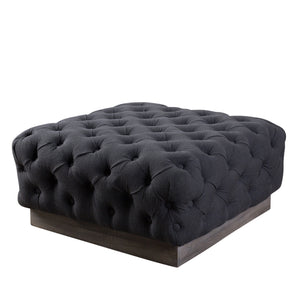 Beckford Square Ottoman - Charcoal