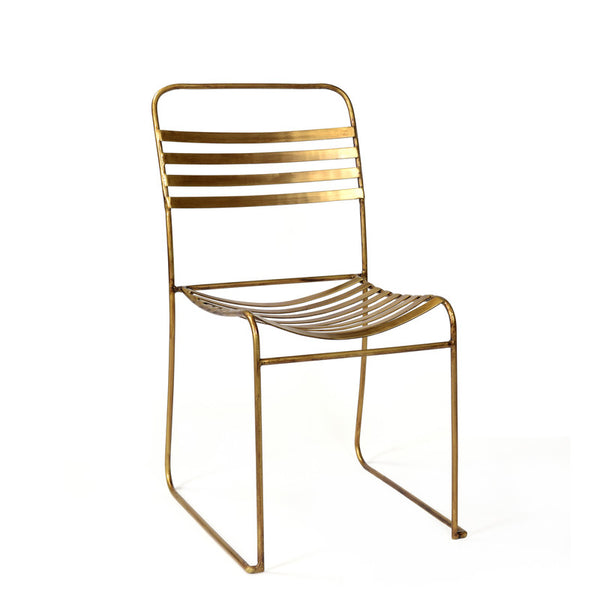 Tobin Stacking Dining Chair - Brass