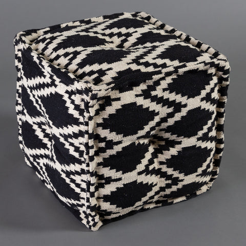 Tribal Diamond Pouf - Square