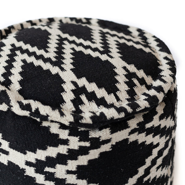 Tribal Diamond Pouf - Round