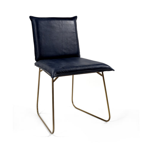 Carlson Leather Dining Chair - Blue ( Set of 2 )