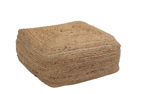 Square Jute Pouf - Small