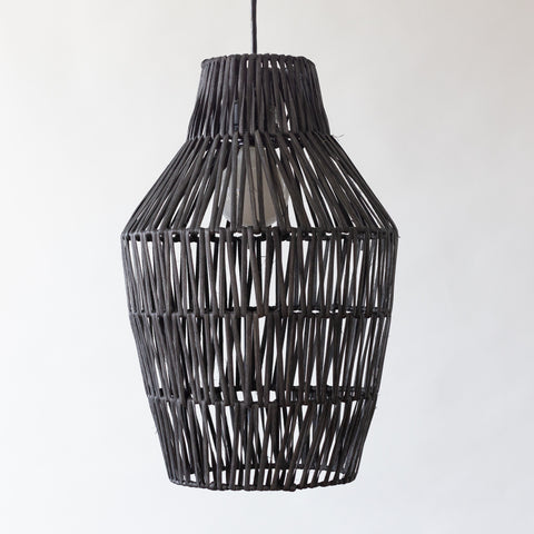 Pineapple Rattan Light - Black