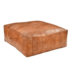 Eastwood Leather Ottoman - Square