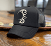 TATTOO TRUCKER BLACK WITH WHITE LOGO