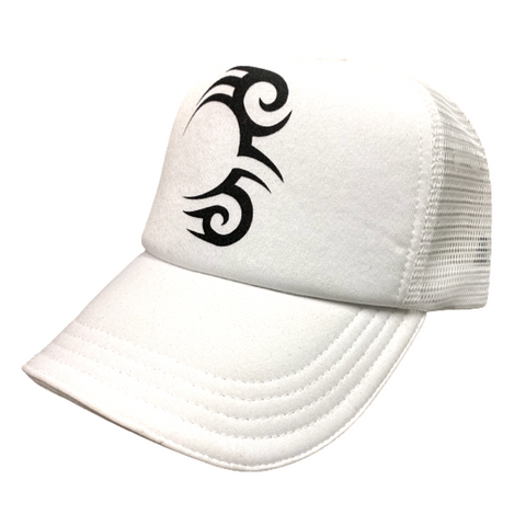 TATTOO TRUCKER WHITE WITH BLACK LOGO