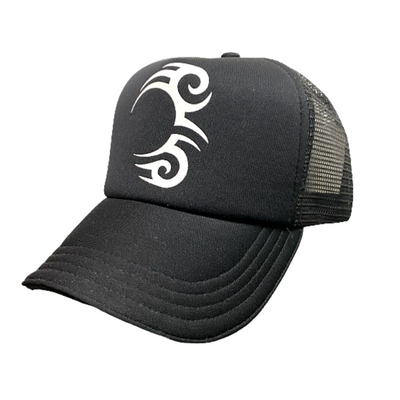 Load image into Gallery viewer, TATTOO TRUCKER BLACK WITH WHITE LOGO