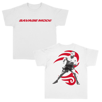 Load image into Gallery viewer, SAVAGE MODE TATTOO (RED) ON WHITE