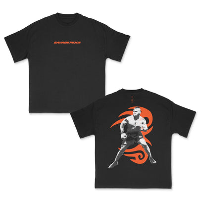 Load image into Gallery viewer, SAVAGE MODE TATTOO (ORANGE) ON BLACK