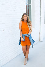 Load image into Gallery viewer, Flirting With Fall Burnt Orange Dress