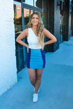 Load image into Gallery viewer, Blue Jean Baby Color Block Skirt