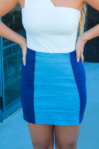 Blue Jean Baby Color Block Skirt