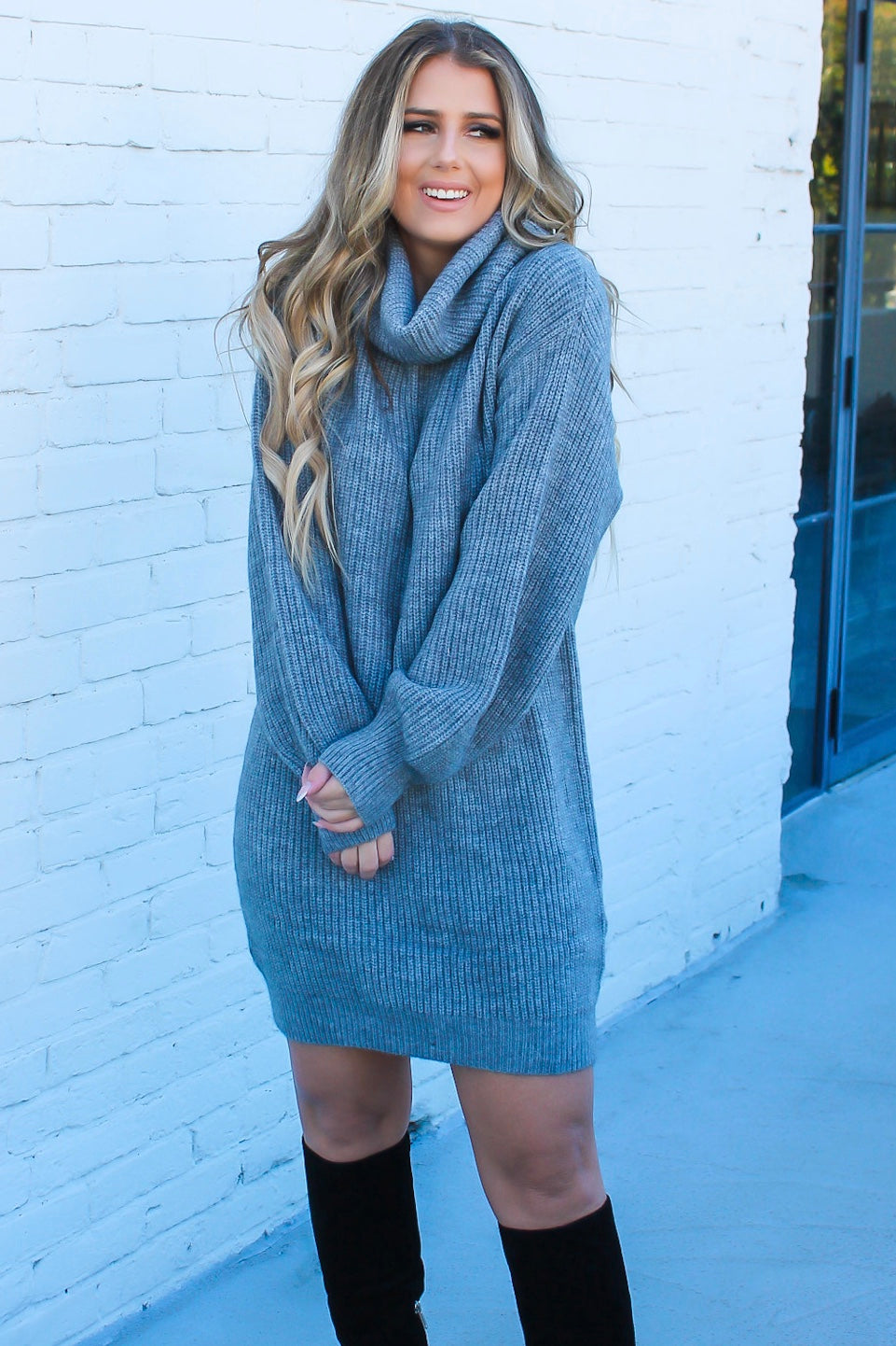 Let's Cuddle Sweater Dress