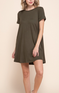 Everyday Style Army Green Dress