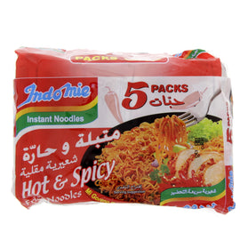 Indomie Hot & Spicy Fried Instant Noodles 80g x 5 Pieces