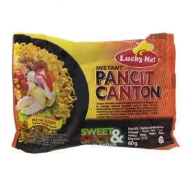 Lucky Me Pancit Canton Fried Noodles Sweet & Spicy 60gm *6
