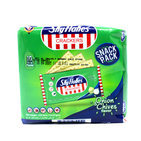 SkyFlakes Crackers Onion Chives 250gm
