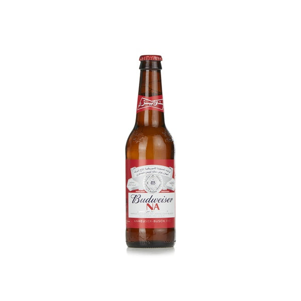 BUDWEISER NON ALCOHOLIC BEER 355 MLRED