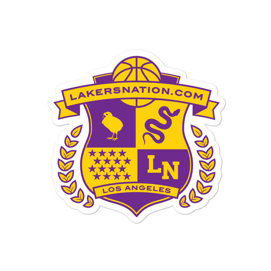 Lakersnation- Bubble-free stickers