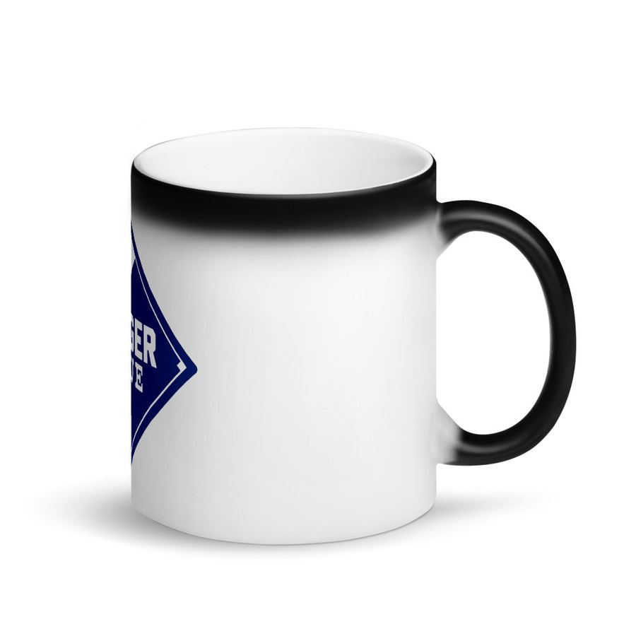 Dodger Blue Matte Black Magic Mug