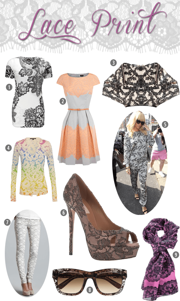Try the Trend: Lace Print
