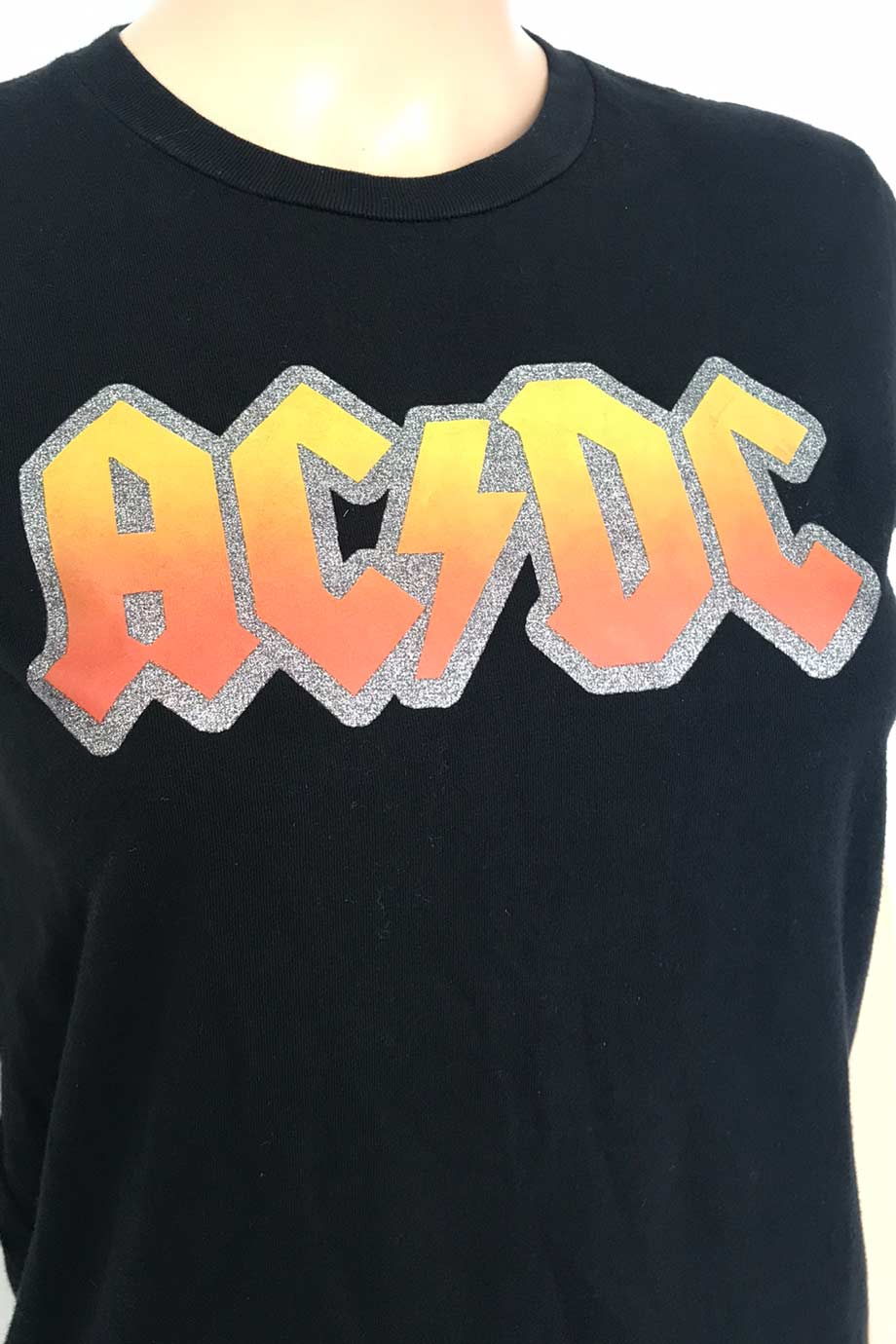 Chaser Black Short Sleeve AC/DC Graphic Tee Shirt / Sz M-Style Therapy