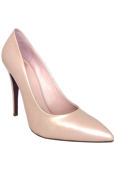 Amanda Gregory Pearl Pink Patent Leather High Heel Pumps / Sz 37