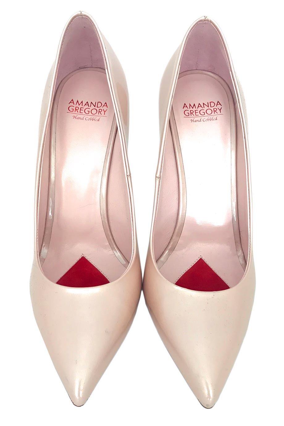Amanda Gregory Pearl Pink Patent Leather High Heel Pumps / Sz 37-Style Therapy