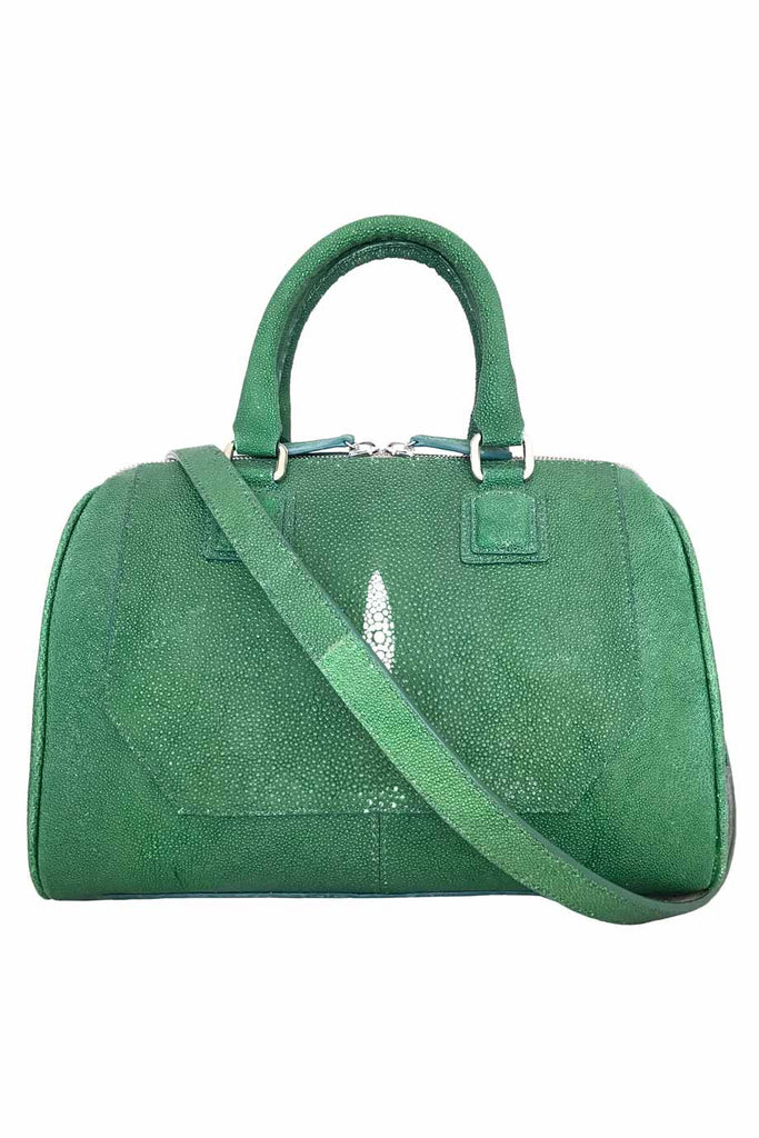 Jonathan Blake Green Stingray Top Handle Bag + Strap