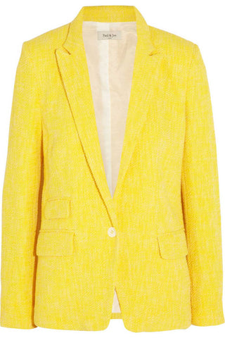Paul & Joe Bright Yellow Marl Cotton Tweed Jacket / Sz 36 - Style Therapy  - 1