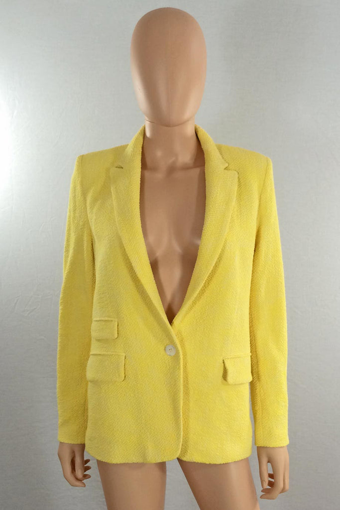 Paul & Joe Bright Yellow Marl Cotton Tweed Jacket / Sz 36 - Style Therapy  - 2