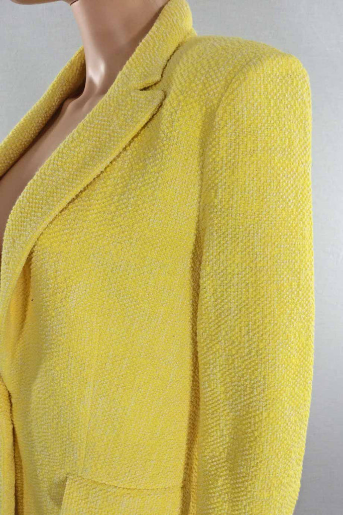 Paul & Joe Bright Yellow Marl Cotton Tweed Jacket / Sz 36 - Style Therapy  - 3