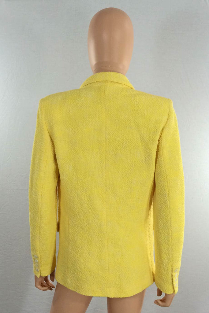 Paul & Joe Bright Yellow Marl Cotton Tweed Jacket / Sz 36 - Style Therapy  - 4