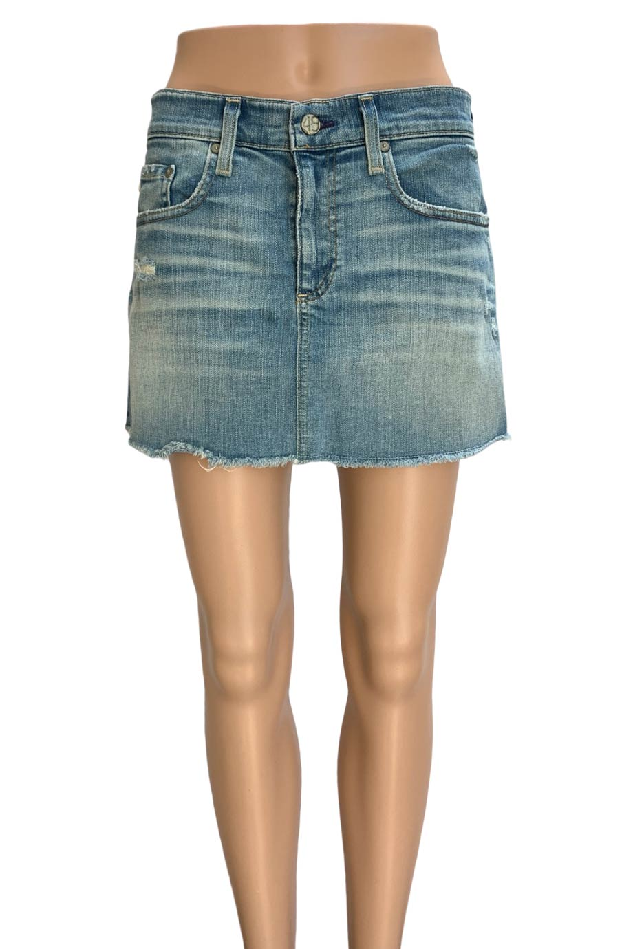 "AG Adriano Goldschmied A-Line Jean Mini Skirt ""23 Years Dust"" / Sz 29"