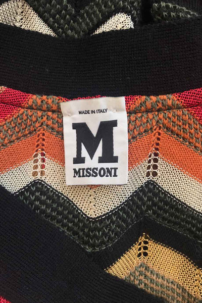 Missoni Multi-Color Zigzag Wool-Blend Cardigan Sweater / Sz 6