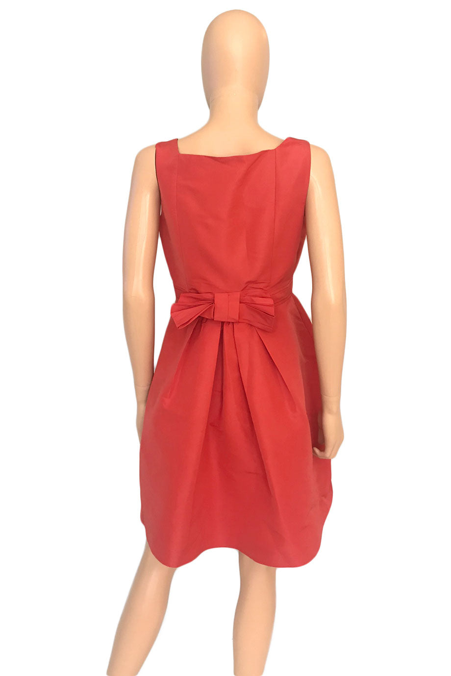 Red Valentino Coral Faille Bow Back Tank Dress / Sz 44-Style Therapy