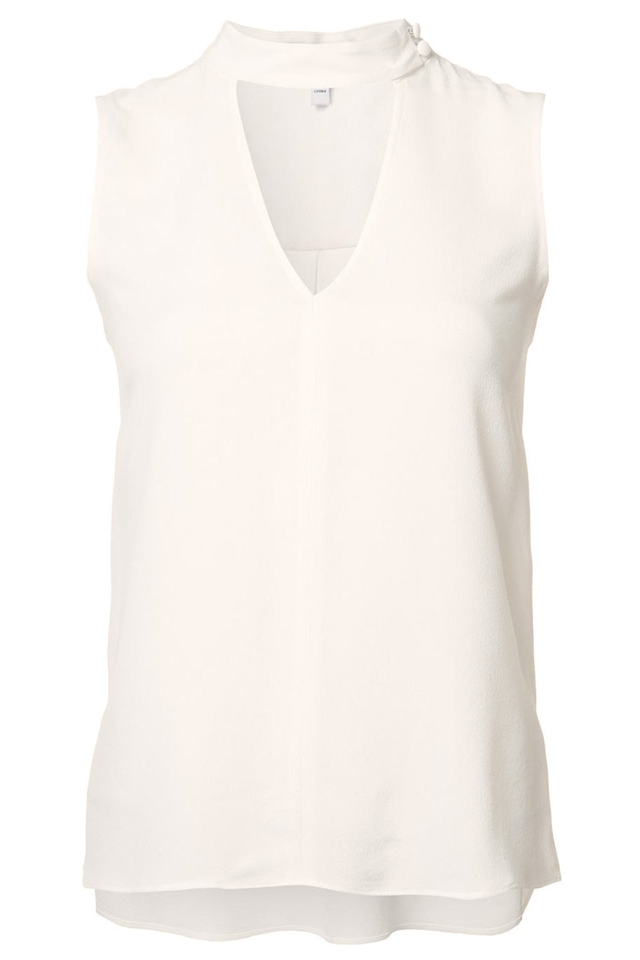 Derek Lam 10 Crosby Off White Sleeveless Cut Out Top / Sz 4