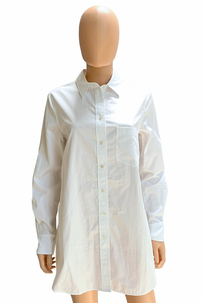 Vince Long Sleeve White Cotton Poplin Button Up Shirt / Sz S