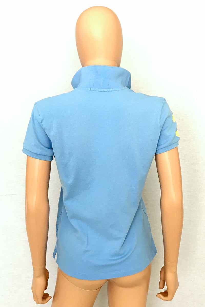 Ralph Lauren Golf Tailored Fit Blue Mesh Knit Polo Shirt / Sz M-Style Therapy