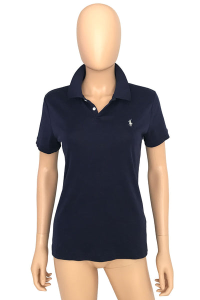 Ralph Lauren Black Label Navy Blue Cotton Polo Shirt / Sz L