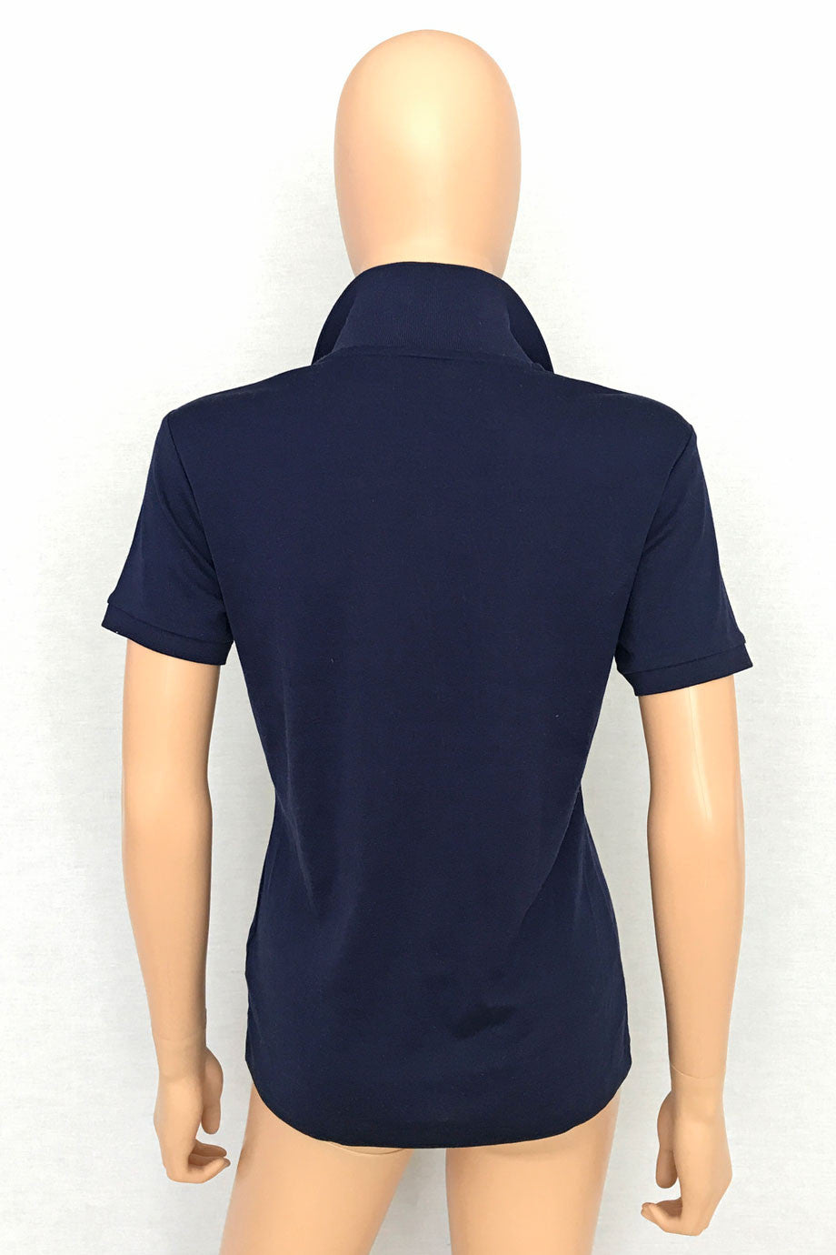 Ralph Lauren Black Label Navy Blue Cotton Polo Shirt / Sz L-Style Therapy