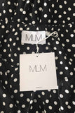 MLM Label Black + White Polka Dot Ruffled Off-Shoulder Top / Sz XS