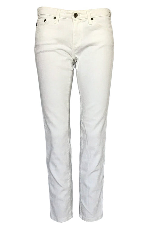 "AG Adriano Goldschmied White Denim ""The Stilt"" Straight Jeans / Sz 27"